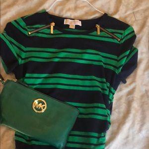 Micheal Kors Green Scrunched TShirt